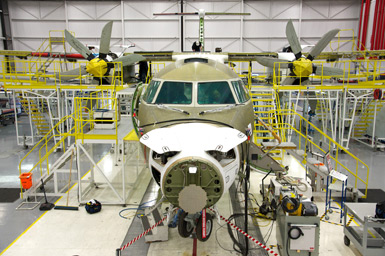 Ontario, Canada has hosted production of Bombardier jets like this one and its predecessors for more than 82 years.