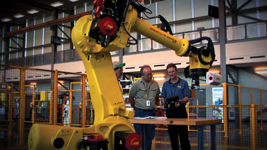 Alabama's Robotics Technology Park in Tanner hosts about 75 employees each month sent for training by manufacturing companies with investment in the state.
